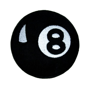 Magic Eight Ball Patch Iron On Applique Alternative Clothing Pool Hustler