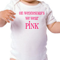 NEW - On Wednesday's we Wear Pink Baby Onesuit - {Great Baby Shower Gift}