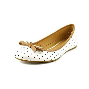 CREY3DS Coach Women's Daisey Flat (Chalk/Ginger, 10)