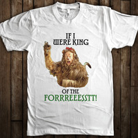 King of the Forest Funny Wizard of Oz Cowardly Lion Graphic T-Shirt