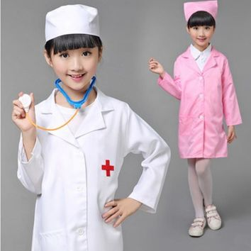 Children Halloween Cosplay Costume Girls Party Cosplay Clothing  Kids Doctor Costume Nurse Uniform with Hat +Mask 18