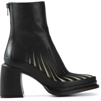 Ann Demeulemeester Tulle Detail Ankle Boots
