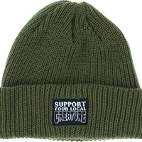 Creature Support Patch  Beanie Olive