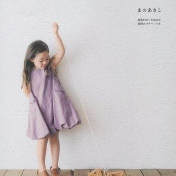 Lovely & Girly Girls Clothes by Akiko Mano  - Japanese Sewing Pattern Book for Girl - B515