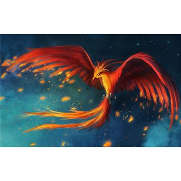 Phoenix Bird Drawings 5D DIY Diamond Painting Cross Stitch Aminal Pictures of Rhinestones Embroidery Yarn Canvas Hobby Crafts