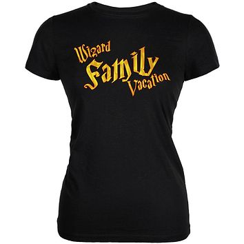 Wizard Family Vacation Juniors Soft T Shirt