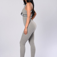 #selfie Jumpsuit - Heather Grey