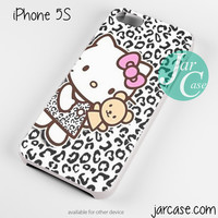 hello kitty leopard background Phone case for iPhone 4/4s/5/5c/5s/6/6 plus