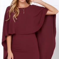 V Back Cape Nightclub Dress B0014104