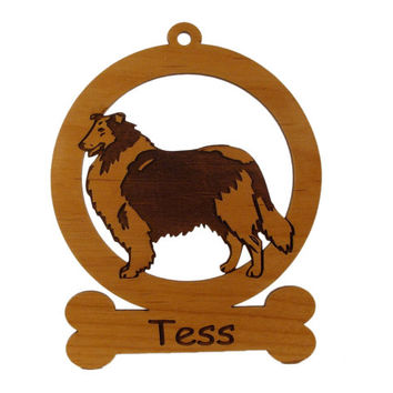 Collie Rough Ornament 082183 Personalized With Your Dog's Name