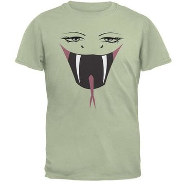 DCCKJY1 Anime Snake Face Hebi Serene Green Adult T-Shirt