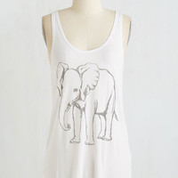 Safari Mid-length Tank top (2 thick straps) Elephant Celebrant Top by ModCloth