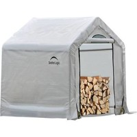 ShelterLogic 90395 5' x 3.5' Firewood Seasoning Shed, Gray