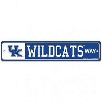 """Licensed Kentucky Wildcats Official NCAA 4.5"""" x 17"""" Plastic Street Sign UK by Wincraft KO_19_1"""