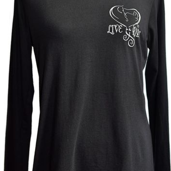 Baby Girl Heart Horse Long Sleeve T