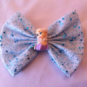 Disney Frozen Inspired Queen Elsa Large Fabric Hair Bow