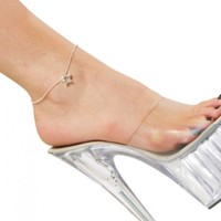 Women Crystal Chain Anklet Star Pendant