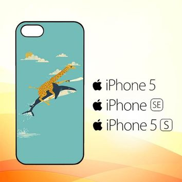 Black Friday offer Giraffe Riding Shark E1379  iPhone 5|5S|SE Case