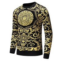 Versace Trending Men Women Personality Warm Long Sleeve Knit Sweater Sweatshirt