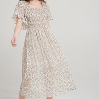 Jin Floral Flirty Sleeve Dress Discover the latest fashion trends online at storets.com