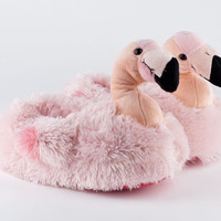 Pink Flamingo Slippers | Bird Slippers, Animal Slippers | BunnySlippers.com
