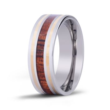 The Modern w/ 14kt Gold Koa Wood Inlay Ring