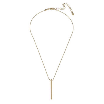 Gold Solid Bar Geometric Necklace