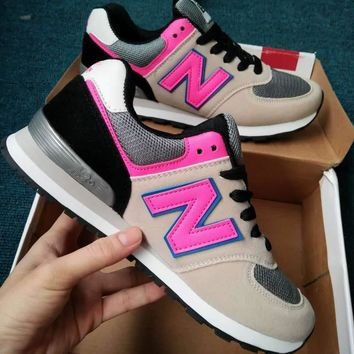 """""""New Balance"""" Fashion Casual All-match N Words Breathable Couple Sneakers Shoes Grey p"""