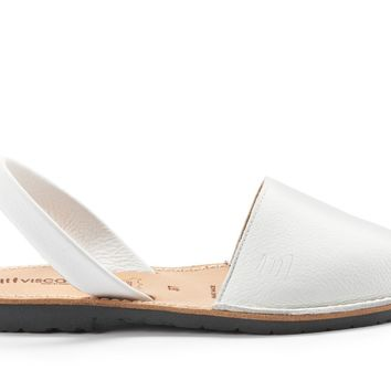 Menorca Leather Avarcas - White