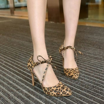 Korean Summer High Heel Stylish Plus Size Shoes [4920246276]