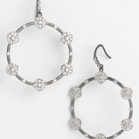 Women's Freida Rothman 'Metropolitan' Frontal Hoop Earrings - Black/ Clear