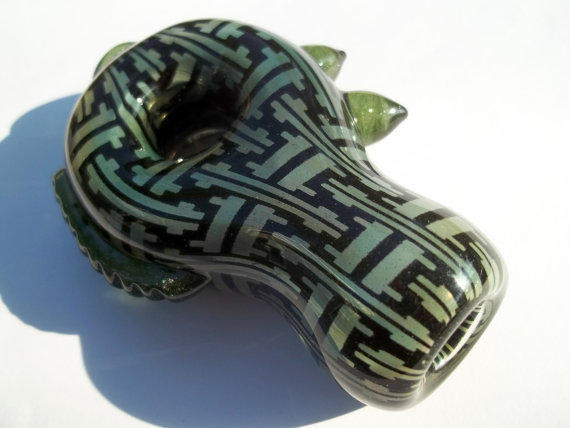 Glass Pipe, Pattern, Chillum, Hitter Beautiful One of A Kind Piece Ready for Shipping CGGE Team