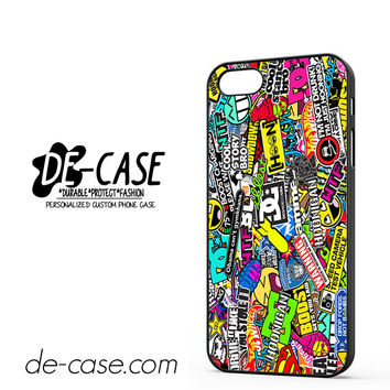 Hoonigan Smiley DC Graffiti Sticker Bomb DEAL-5335 Apple Phonecase Cover For Iphone 5 / Iphone 5S