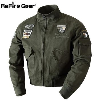 Trendy ReFire Gear Winter Military Air Force Pilot Jacket Men Warm Thick Wool Liner Cotton Army Jacket Thermal Outerwear Tactical Coat AT_94_13