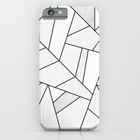 White Stone / Black Lines iPhone & iPod Case by Elisabeth Fredriksson
