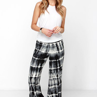 Billabong Midnight Hour Black Tie-Dye Pants