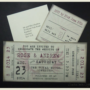 Best Ticket Invitations Products On Wanelo