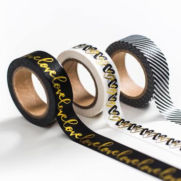 Dokibook Black Series Washi Tape