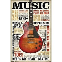 ELECTRIC GUITAR POSTER Amazing Inspirational Quotes RARE HOT NEW 22x34