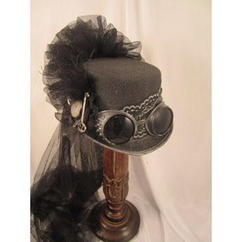 Steampunk Gun Metal Riding Hat 14024N