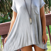 All Too Well Taupe Solid Knit Dress With Pocket
