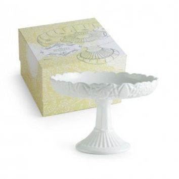 Les Desserts Pedestal Round Rimmed Cake Stand in Gift Box 82534