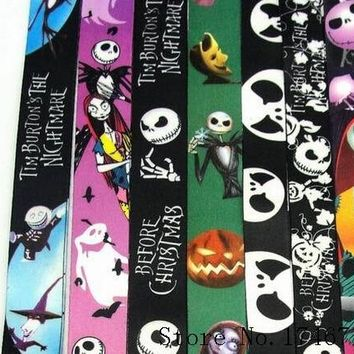 Mixed 10 Pcs Popular Nightmare Before Christmas key chains Lanyard Mobile Phone Neck Straps S-17