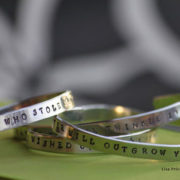 Life Is A Journey Not A Destination Handstamp Hand Stamp Handstamped Hand Stamped Bracelet