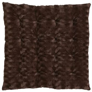 Squareasan™ Cushion - Fuzzy Chocolate