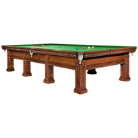 Handsome Solid Oak Decorative Billiard/Snooker/Pool Table, circa 1900