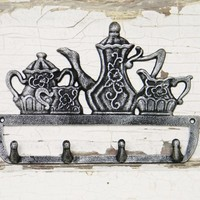 Victorian Teapot, Sugar and Creamer Wall Hook - Choose Your Color - Colorful Cast and Crew