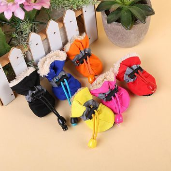 Warm Pet Dog Shoes for Small Dogs Rain Boots Portable Sports Waterproof Working Shoes