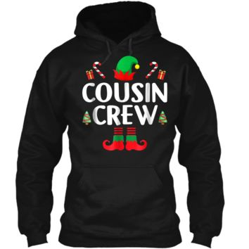 Cousin Crew - Elf  - Family Matching Christmas Pajamas Pullover Hoodie 8 oz