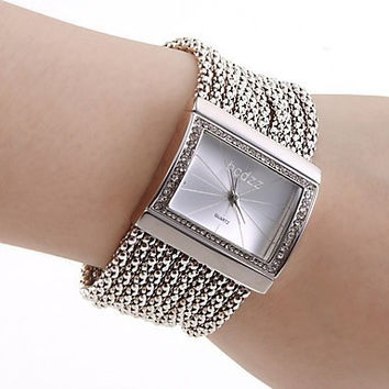 Hot watches women fashion luxury watch gold&silver wrist watch new 2016 stainless steel band quartz watch